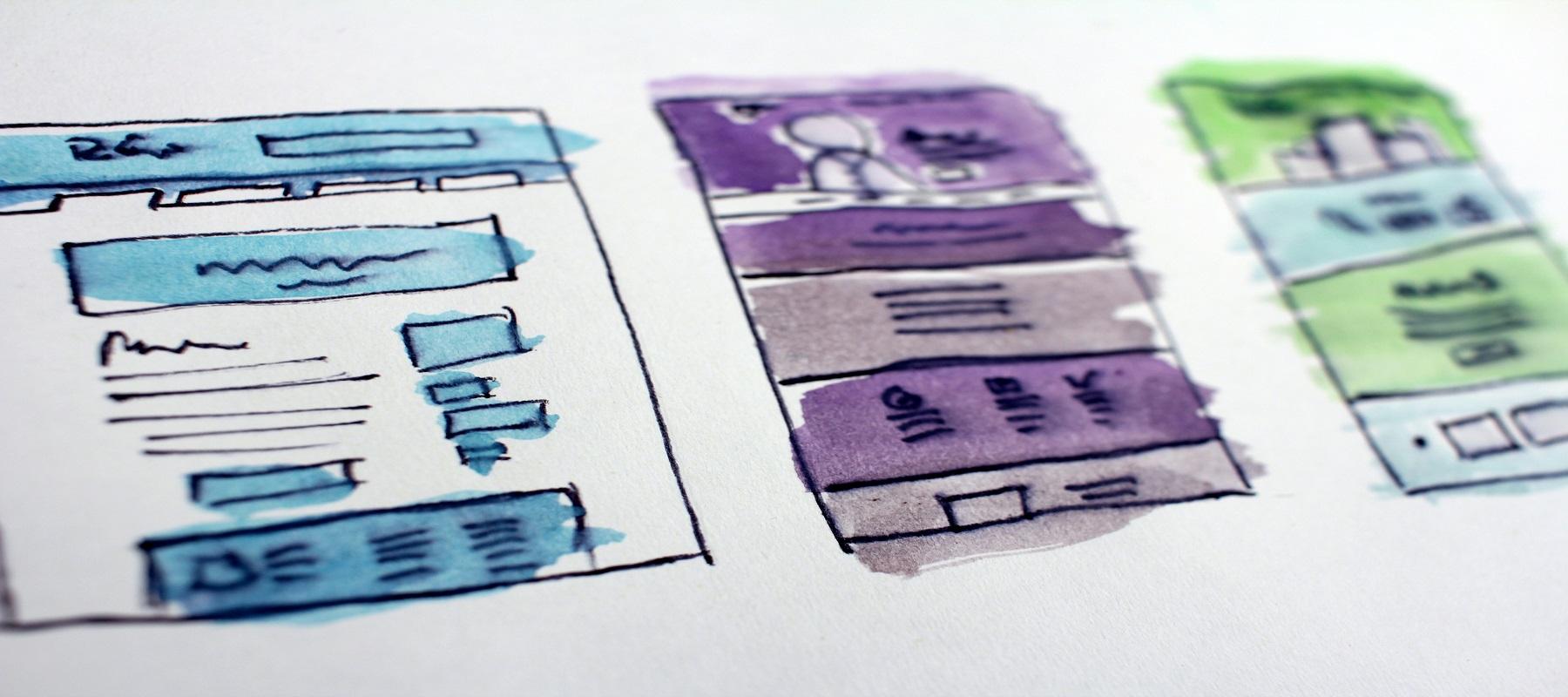 Mannetje van het web banner webdevelopment - web ontwikkeling